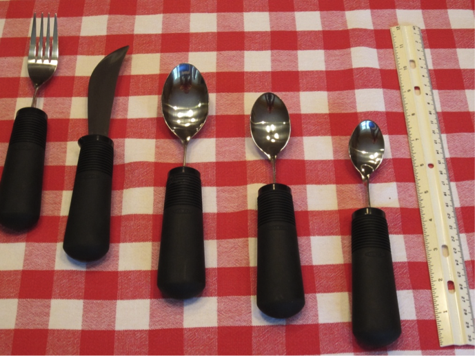 Three spoons, one knife